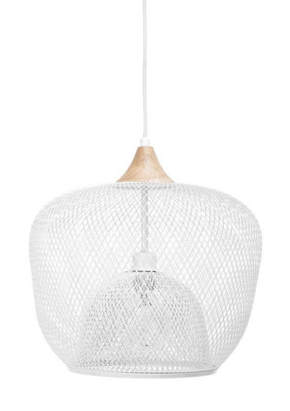 Two Layer White Metal Pendant Light