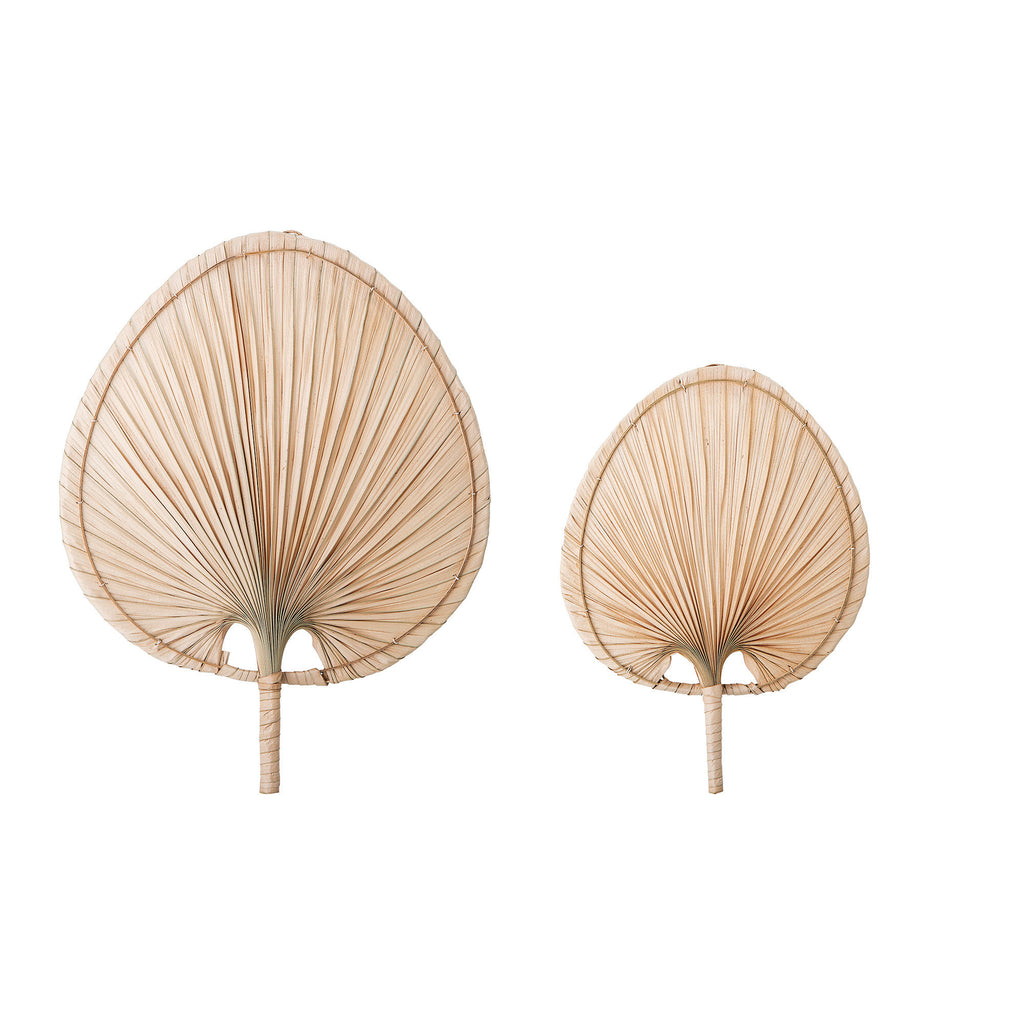 Natural Palm Leaf Fan