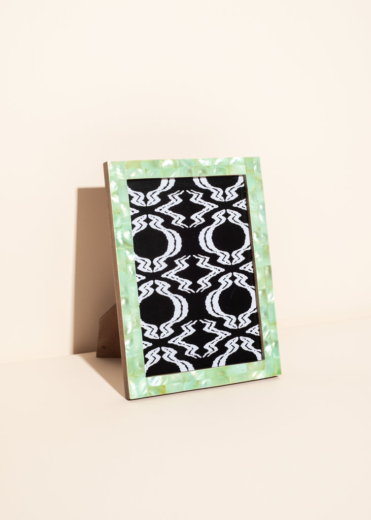 Aqua Mother of Pearl Photo Frame
