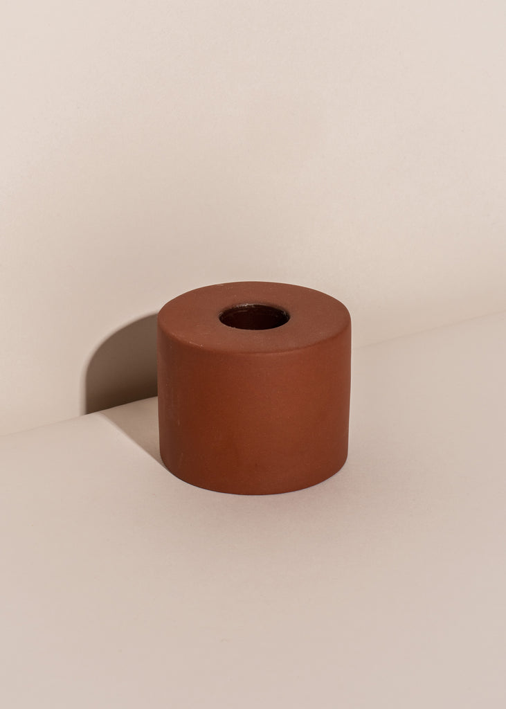 Earth Ceramic Cylinder Taper Holder
