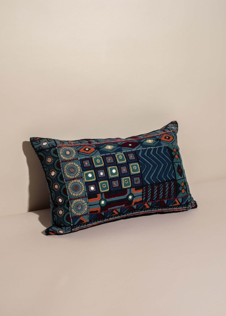 Embroidered Jewel Pillow
