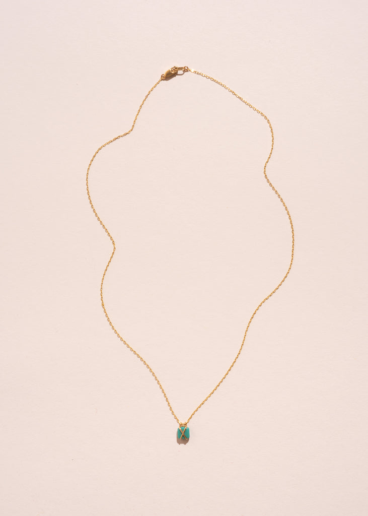 Glass Turquoise Bound Necklace