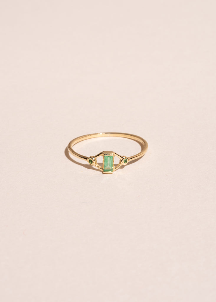 Kite Ring with Emeralds