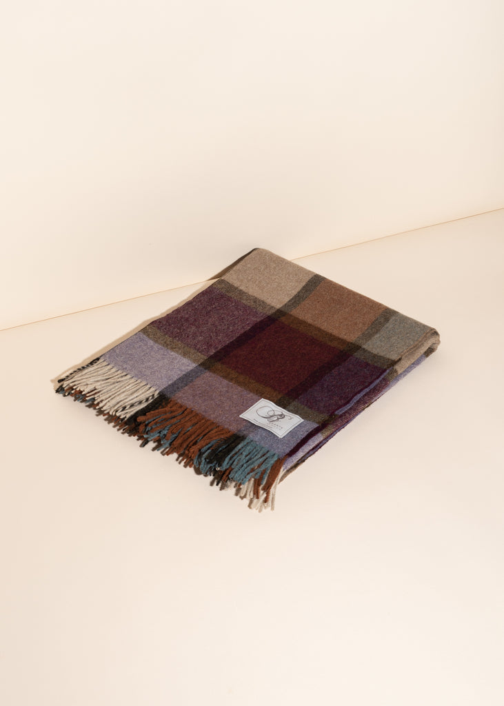 Pateley Checkered Lamb's Wool Throw Blanket