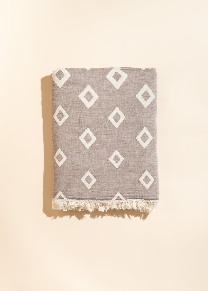 Piemonte Beige Throw Blanket
