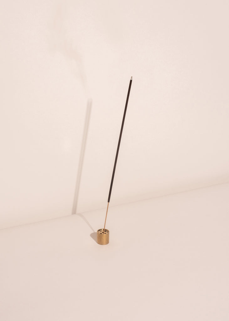Round Gold Incense Holder