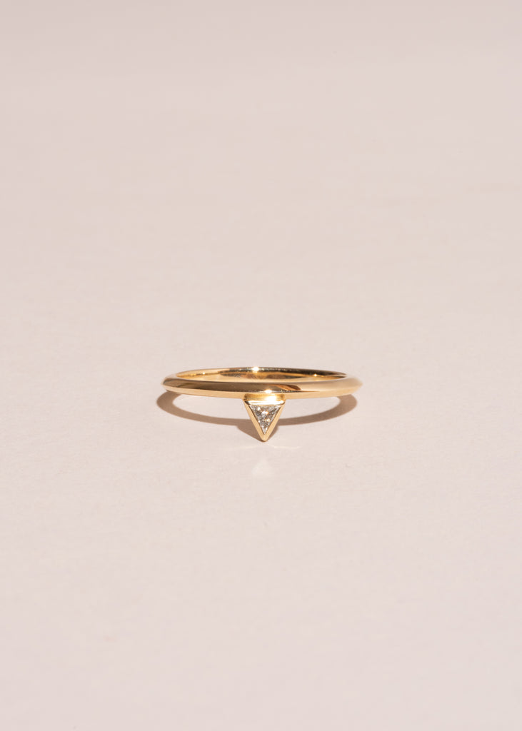 Trillion-Cut Diamond Stackable Ring
