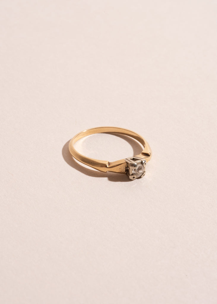 Vintage Mixed Gold Diamond Ring