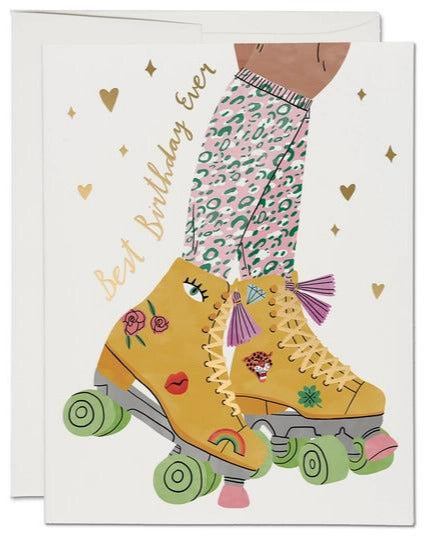 Roller Skates Birthday Card