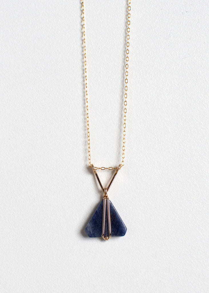 Sodalite Triangles Necklace
