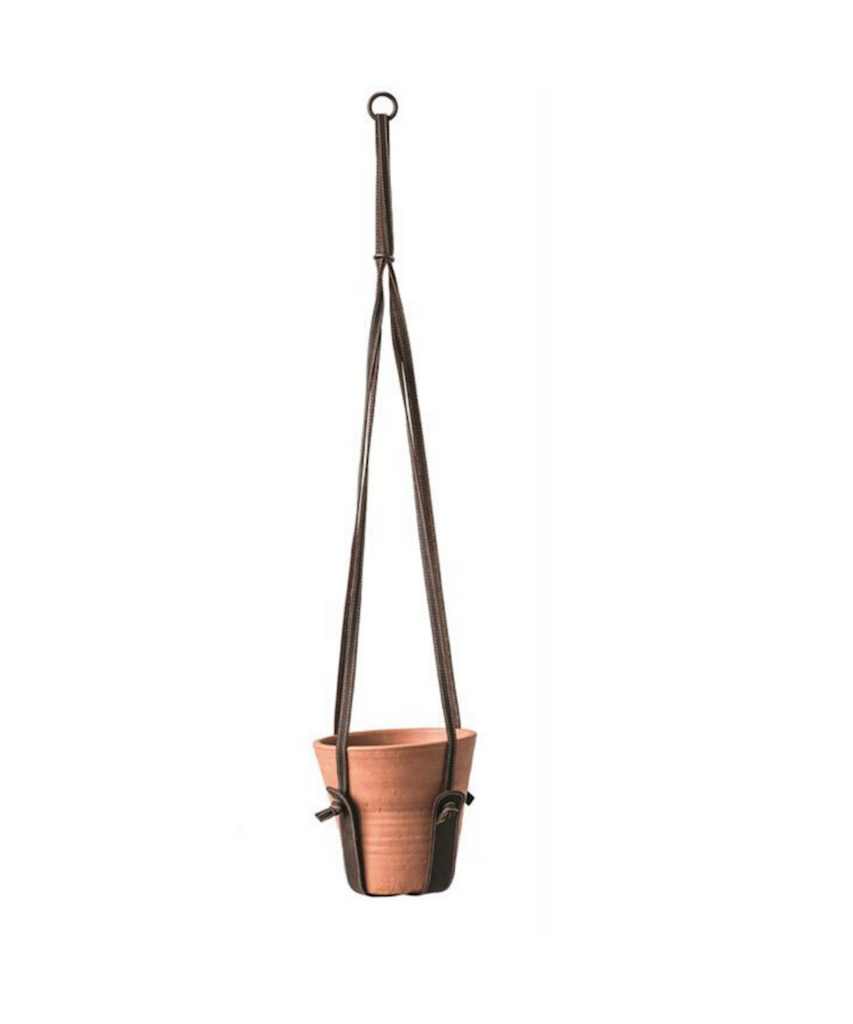 "39"" Leather Plant Hanger - Eskell"