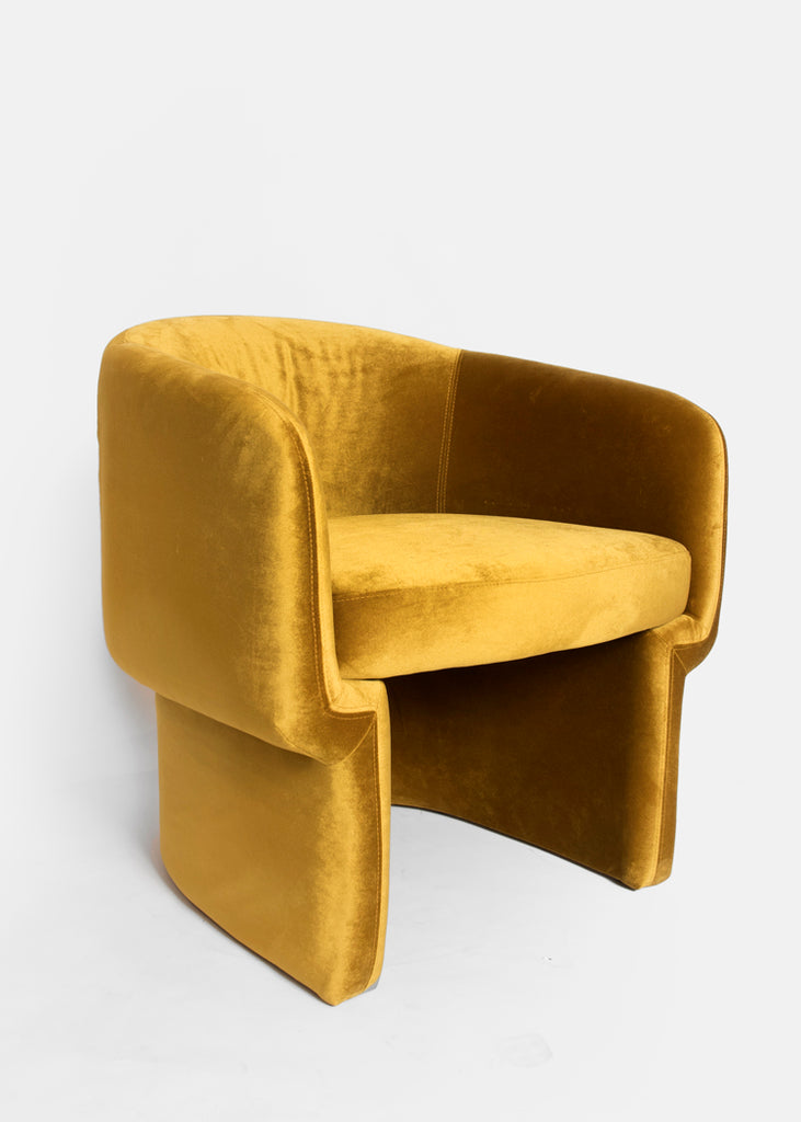 Yellow Velvet Accent Chair - Eskell