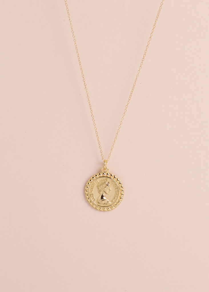 Queen Coin Pendant Necklace - Eskell