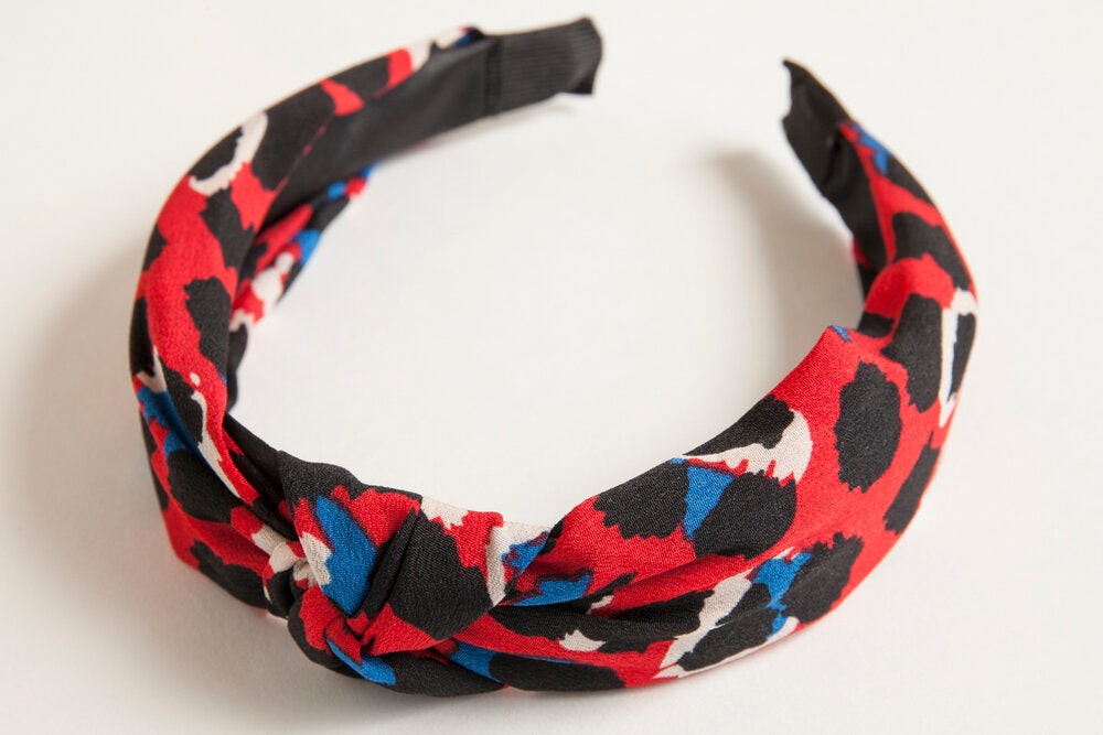 Red Leopard Headband