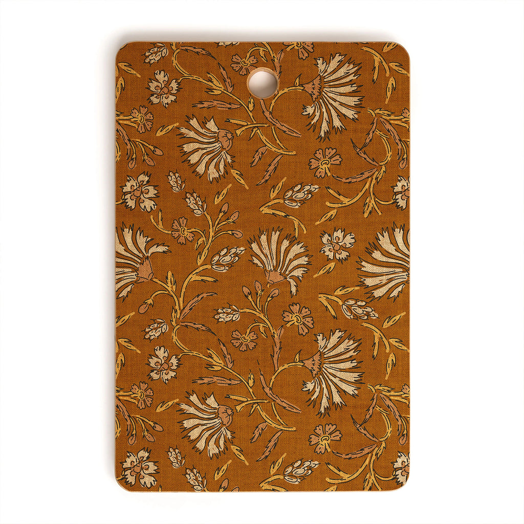 Floral Mustard Rectangle Cutting Board