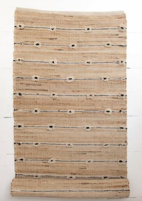 Cotton and Jute Tufted Floor Runner