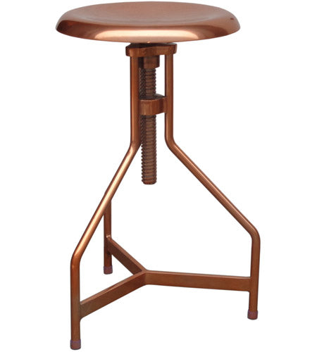 Singleton Adjustable Copper Stool