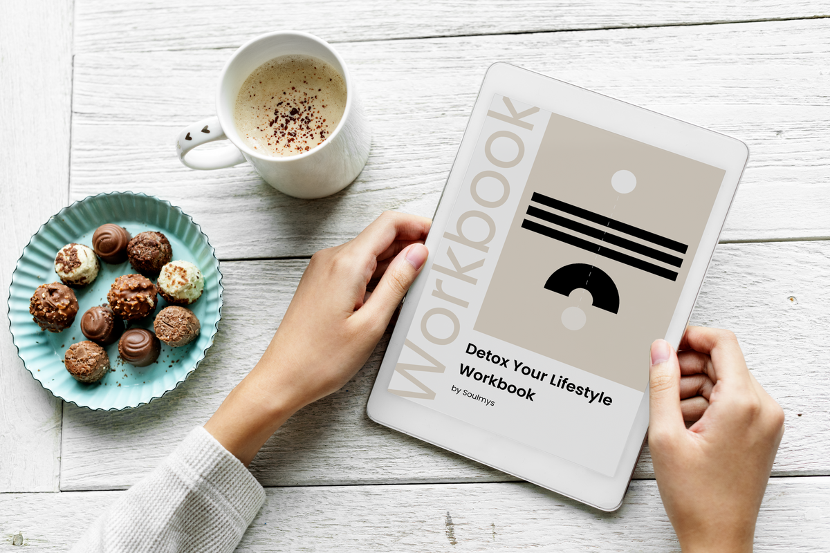detox your lifestyle workbook, inner work, self-development, digital workbook, personal growth, visual workbook, workbook pages, life-coaching, live your dream, workbook visual, empower yourself, self-care journey, ipad