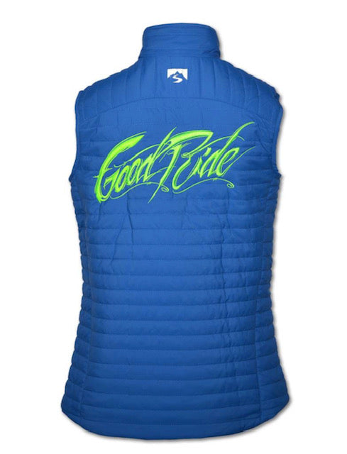 Women's Cobalt blue/Green Vest