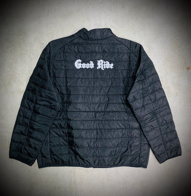 Men's Black/Silver Puffy Jacket