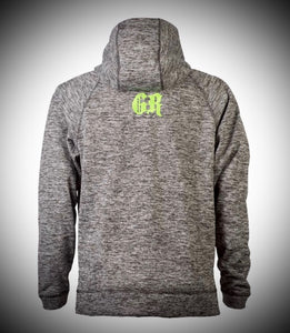 Black Heather/Green Hoodie