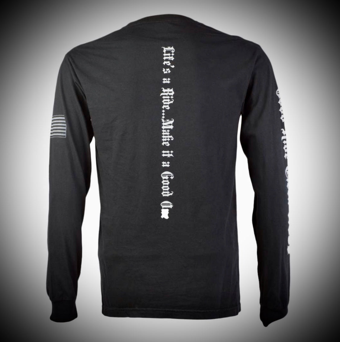 Men's & Women's Black Long Sleeve Tee Shirt w/ GR