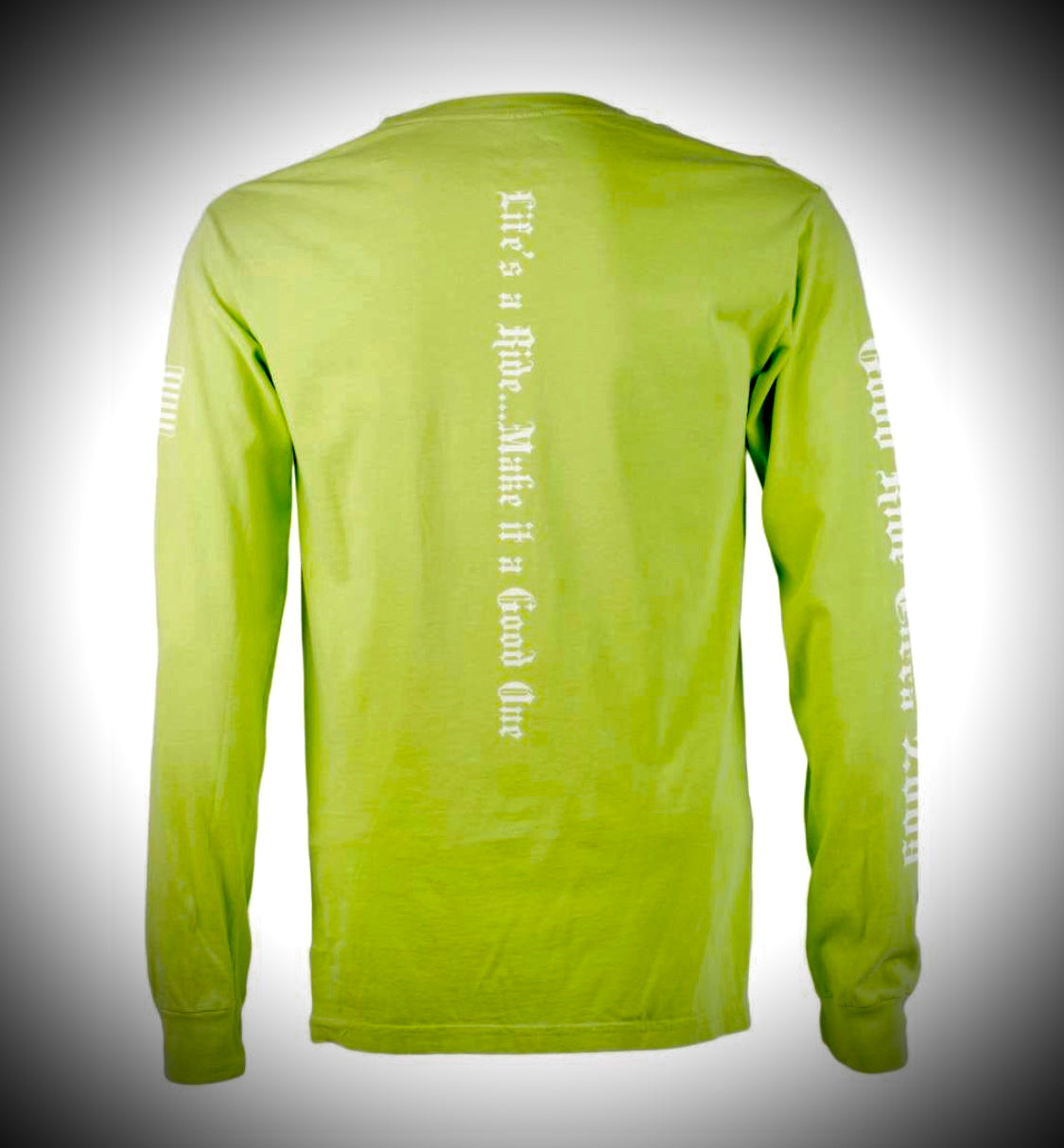 Men's & Women's Lime Green Long Sleeve Tee Shirt w/GR