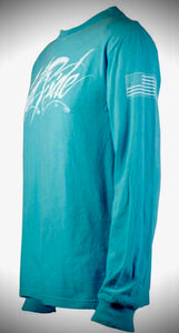 Men's / Women's Lagoon Blue Long Sleeve Tee Shirt w/GR