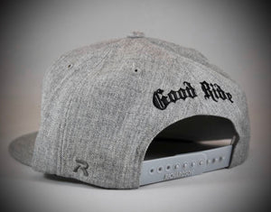 Gray Flat Bill Snap Back
