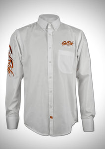 Men's White Show Shirt / Cinnamon GR Logo