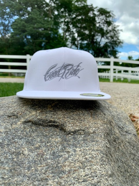 White Hat with Silver Script GR