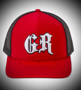 Red and Black GR trucker hat