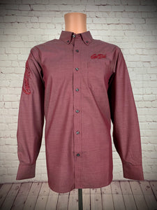 Men's Scarlet Twill Show Shirt / Red Good Ride