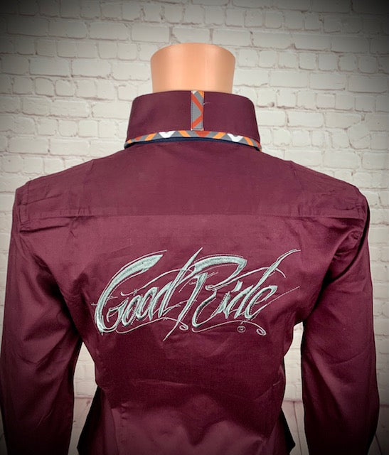 Women's Maroon Show Shirt / with GR Logo on Back