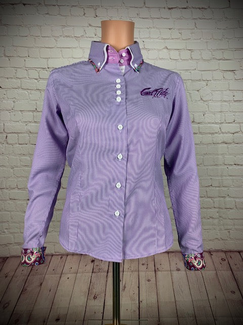 Women's Purple Stripe Show Shirt/GR Logo on Back