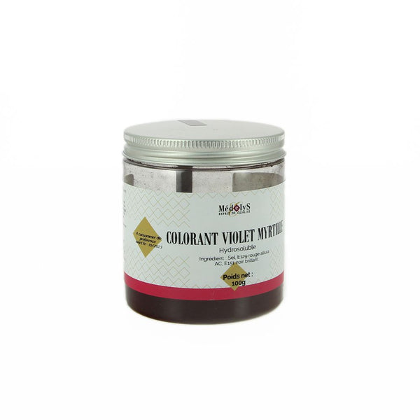 Colorant violet myrtille hydrosoluble - 100g