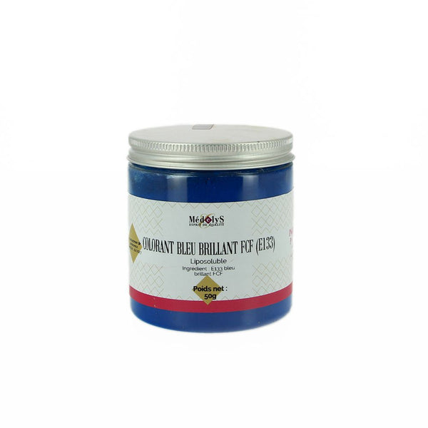 Colorant bleu brillant liposoluble - 50g