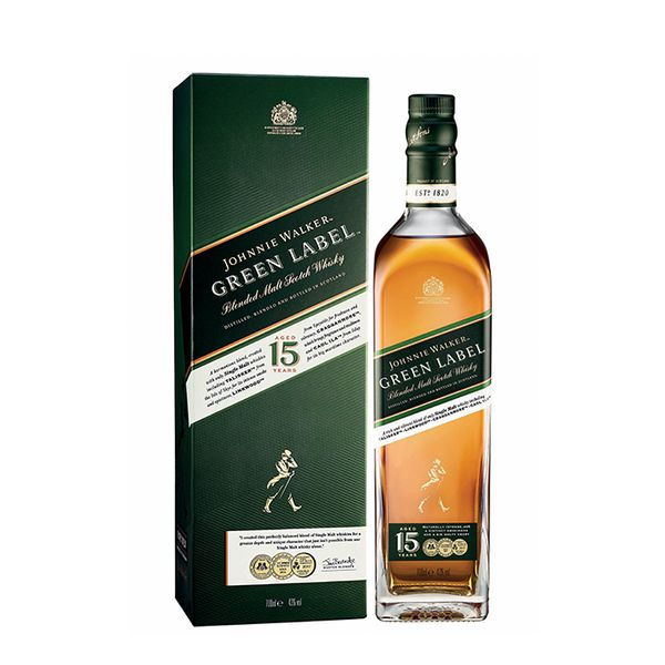 Johnnie Walker Green Label avec étui 43% - 70cl