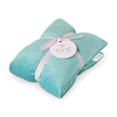 Luxe Velvet Heat Pillow -  Seafoam