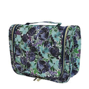 Essential Hanging Cosmetic Bag - Flourish Blue