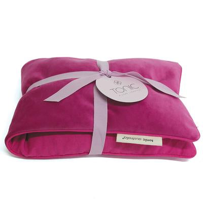 Luxe Velvet Heat Pillow -  Berry