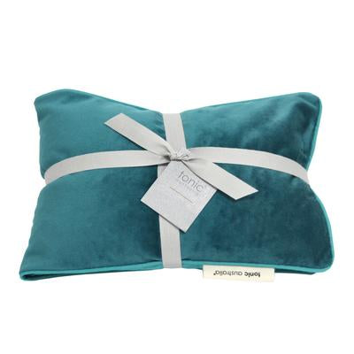 Luxe Velvet Heat Pillow -  Teal
