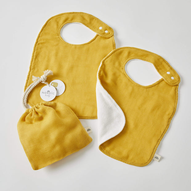 Honey Double Muslin Bibs 2 Pack