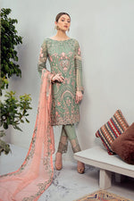 Load image into Gallery viewer, Flirty Flamingo Rangoon by Ramsha Ladies Suit