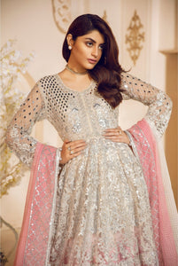 Maryum N Maria MASHQ Silver and Pink Ladies Frock