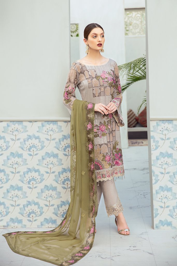 Summer Meadow Rangoon by Ramsha Ladies Suit