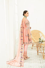 Load image into Gallery viewer, Peach Luxury Chiffon by Ramsha Ladies Suit