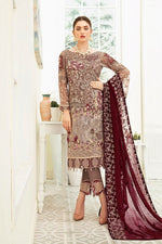 Load image into Gallery viewer, Light Brown Luxury Chiffon by Ramsha Ladies Suit