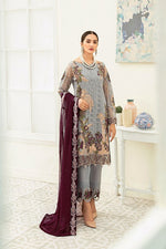 Load image into Gallery viewer, Grey Luxury Chiffon by Ramsha Ladies Suit