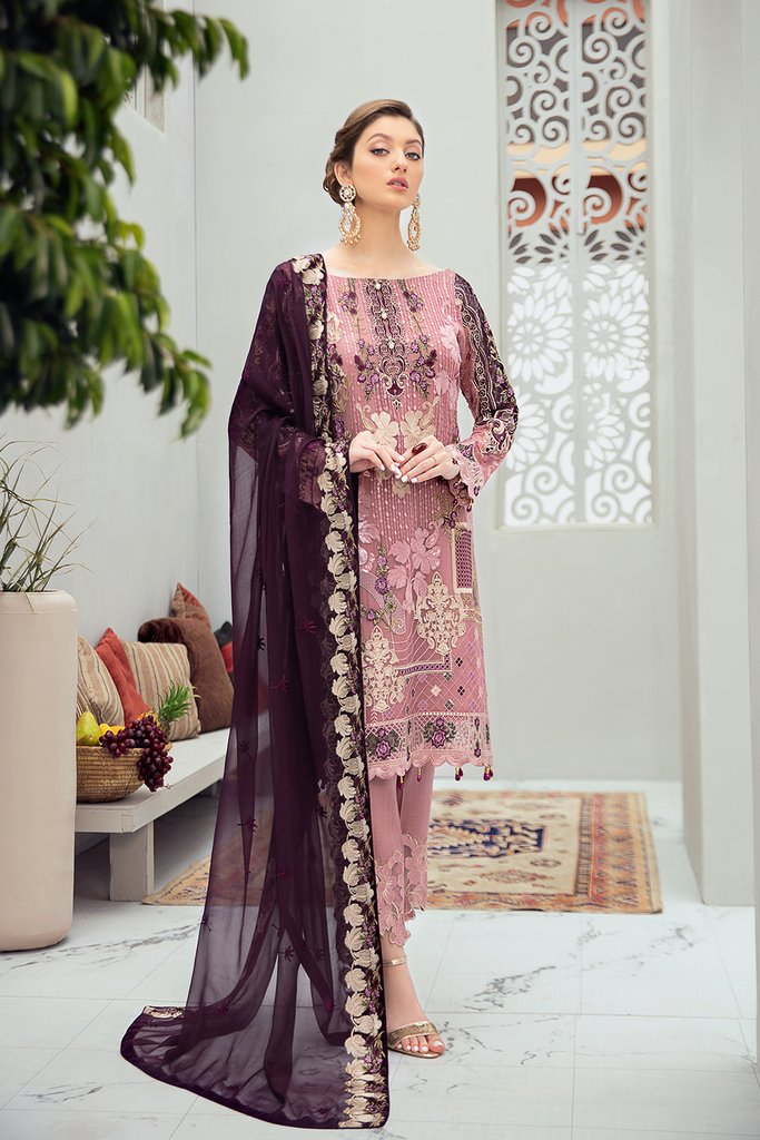 After Dusk Rangoon by Ramsha Ladies Suit